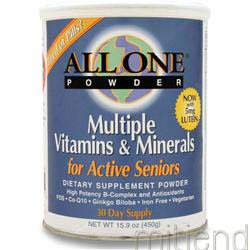 Multiple Vitamins & Minerals - Active Senior's Formula 15 9 oz ALL ONE