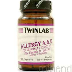 Allergy A&D 10000IU/400IU 100 caps TWINLAB