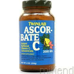 Ascorbate C Powder 8 oz TWINLAB