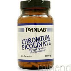 Chromium Picolinate 200mcg 200 caps TWINLAB