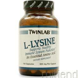 L-Lysine 500mg 100 caps TWINLAB