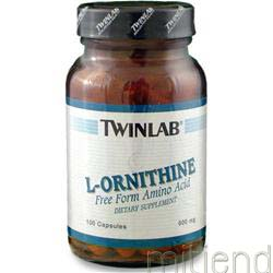 L-Ornithine 500mg 100 caps TWINLAB