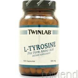 L-Tyrosine 500mg 100 caps TWINLAB