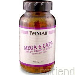 Mega 6 Caps 180 caps TWINLAB