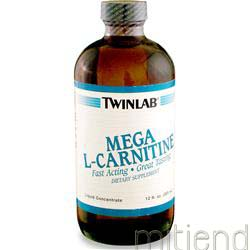 Mega L-Carnitine 500mg Liquid Concentrate 12 fl oz TWINLAB