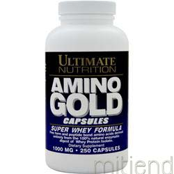 Amino Gold 1000mg Super Whey Formula 250 caps ULTIMATE NUTRITION