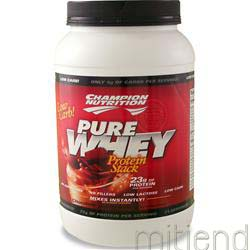 Pure Whey Protein Stack Chocolate 2 2 lbs CHAMPION NUTRITION