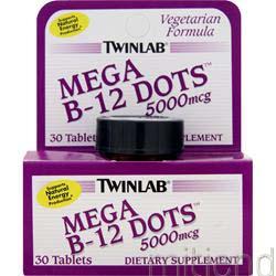 Mega B-12 Dots 5000mcg 30 dots TWINLAB