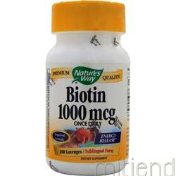 Biotin 1000mcg 100 lzngs NATURE'S WAY