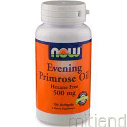 Evening Primrose Oil 500mg 100 sgels NOW