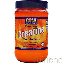 Micronized Creatine Monohydrate 500 gr NOW