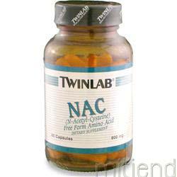 NAC - N-Acetyl-Cysteine 600mg 60 caps TWINLAB