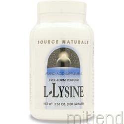 L-Lysine 1000mg Powder 3 53 oz SOURCE NATURALS