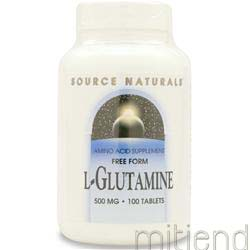 L-Glutamine 500mg 100 tabs SOURCE NATURALS