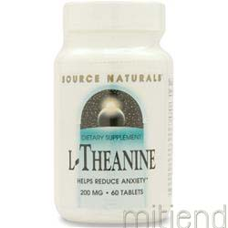L-Theanine 200mg 60 tabs SOURCE NATURALS