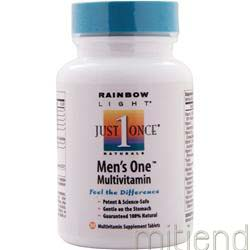 Just Once Men's One Multi 30 tabs RAINBOW LIGHT