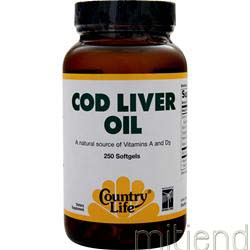 Cod Liver Oil 250 sgels COUNTRY LIFE