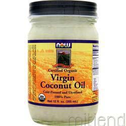 Virgin Coconut Oil Certified Organic 12 fl oz NOW