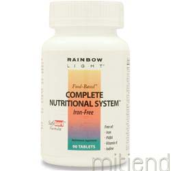 Complete Nutritional System Iron-Free 90 tabs RAINBOW LIGHT