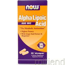 Alpha Lipoic Acid 600mg 60 caps NOW