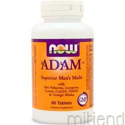 ADAM Men's Multivitamin 60 tabs NOW