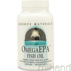 Omega EPA Fish Oil 100 sgels SOURCE NATURALS