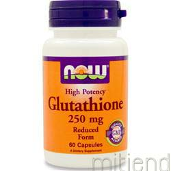 Glutathione 250mg 60 caps NOW