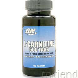 L-Carnitine 500mg 60 tabs OPTIMUM NUTRITION