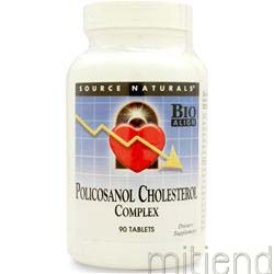 Policosanol Cholesterol Complex 90 tabs SOURCE NATURALS