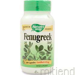 Fenugreek Seed 100 caps NATURE'S WAY