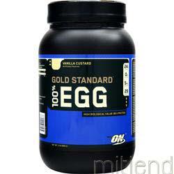 100% Egg Protein Vanilla Custard 2 lbs OPTIMUM NUTRITION