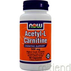 Acetyl-L Carnitine 500mg 50 caps NOW