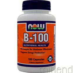 B-100 High Potency B-Complex 100 caps NOW