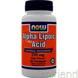Alpha Lipoic Acid 250mg 60 caps NOW