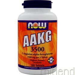 AAKG 3500 L-Arginine-alpha-ketoglutarate 180 tabs NOW