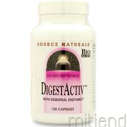 DigestActiv with Essential Enzymes 120 caps SOURCE NATURALS
