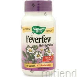 Feverfew - Standardized Extract 60 caps NATURE'S WAY