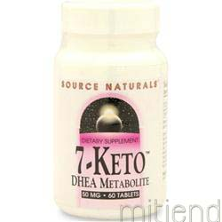 7-Keto DHEA Metabolite 50mg 60 tabs SOURCE NATURALS
