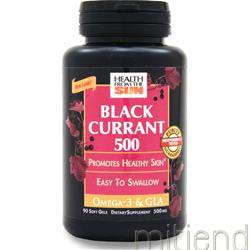 Black Currant Oil 500mg 90 caps HEALTH FROM THE SUN