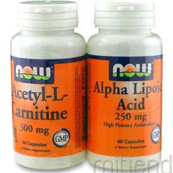 Acetyl-L-Carnitine & Alpha Lipoic Acid TwinPack 110 caps NOW