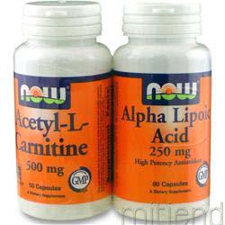 Acetyl-L-Carnitine & Alpha Lipoic Acid TwinPack 110 caps NOW