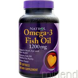 Omega-3 Fish Oil 1200mg Lemon 60 sgels NATROL