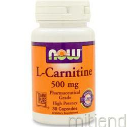 L-Carnitine Fitness Support 500mg 30 caps NOW