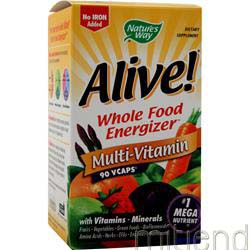 Alive Multivitamin - No Iron Added 90 caps NATURE'S WAY