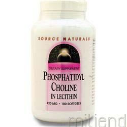 Phosphatidyl Choline 180 sgels SOURCE NATURALS