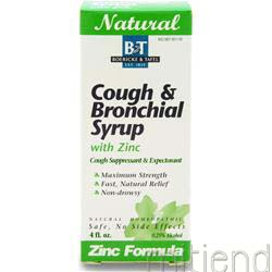 Cough & Bronchial Syrup w/ Zinc 4 fl oz BOERICKE AND TAFEL