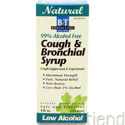 Cough & Bronchial Syrup 99% Alcohol Free 4 fl oz BOERICKE AND TAFEL