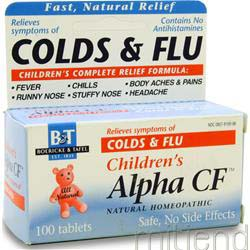 Children's Alpha CF Colds & Flu 100 tabs BOERICKE AND TAFEL