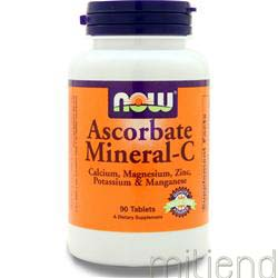 Ascorbate Mineral-C 90 tabs NOW
