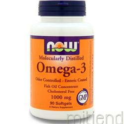 Omega-3 Odor Controlled, Enteric 1000mg 90 sgels NOW